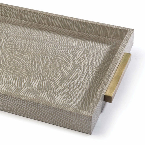 Regina Andrew Square Shagreen Boutique Tray, Ivory Grey Python