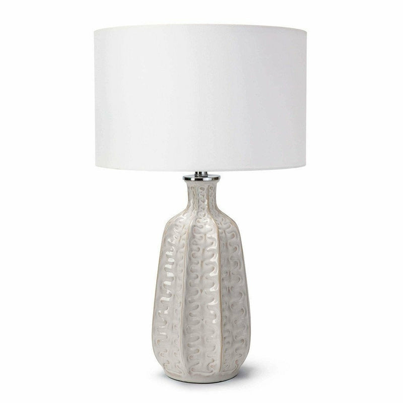 Coastal Living Antigua Ceramic Table Lamp, Ivory-Table Lamps-Coastal Living-Heaven's Gate Home