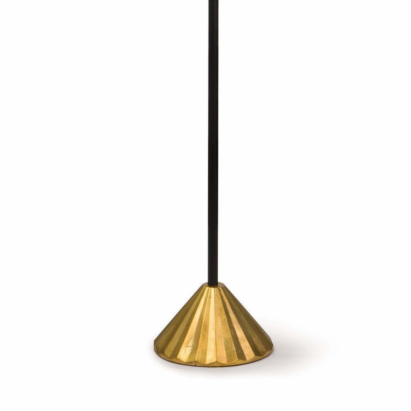 Coastal Living Parasol Modern Aluminum Floor Lamp, Gold Leaf-Floor Lamps-Coastal Living-Heaven's Gate Home, LLC