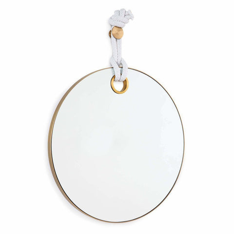 Regina Andrew Porter Mirror, Natural Brass