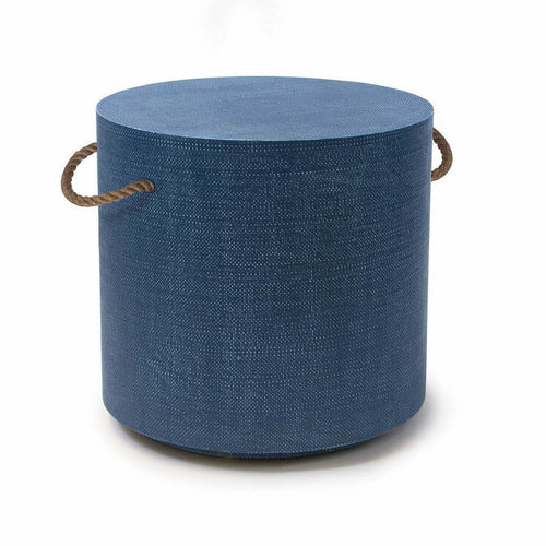 Regina Andrew Aegean Round Table, Indigo-Side Tables-Regina Andrew-Heaven's Gate Home, LLC