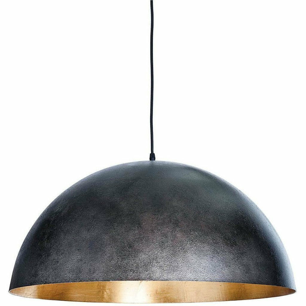 Regina Andrew Sigmund Pendant, Large, Black and Gold-Pendant Lamps-Regina Andrew-Heaven