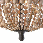 Regina Andrew Wood Beaded Semi Flush Mount-Chandeliers-Regina Andrew-Heaven's Gate Home