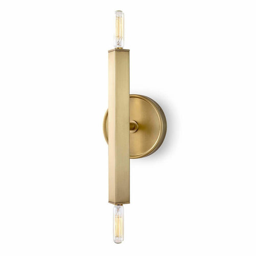 Regina Andrew Viper Sconce, Natural Brass-Wall Sconces-Regina Andrew-Heaven's Gate Home