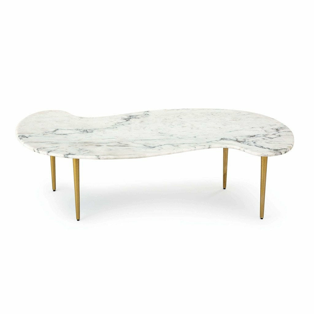 Regina Andrew Jagger Marble Cocktail Table, White