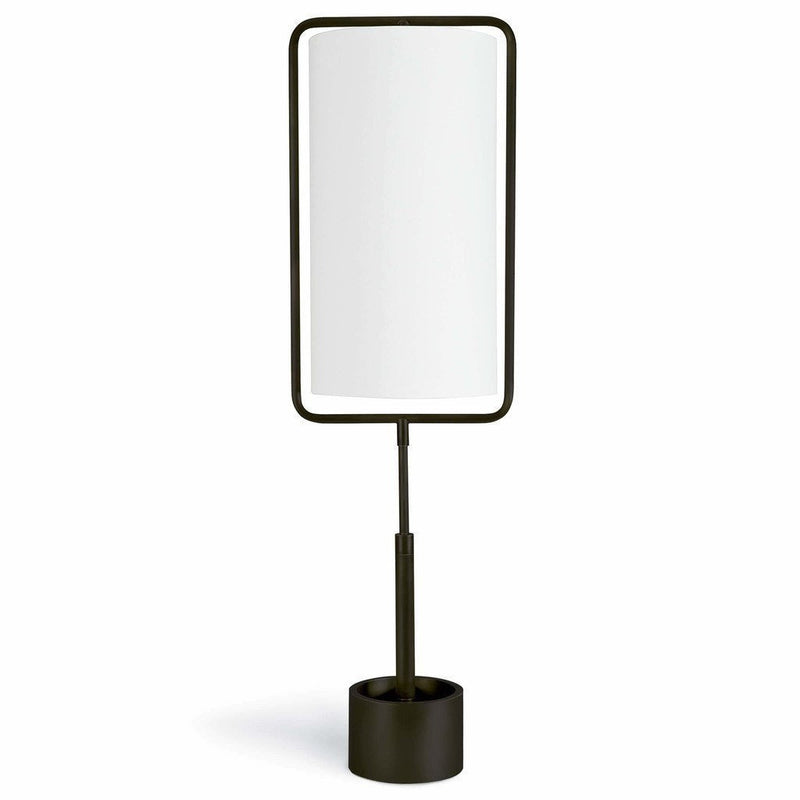 Coastal Living Geo Modern Rectangle Table Lamp, Bronze-Table Lamps-Coastal Living-Heaven's Gate Home, LLC