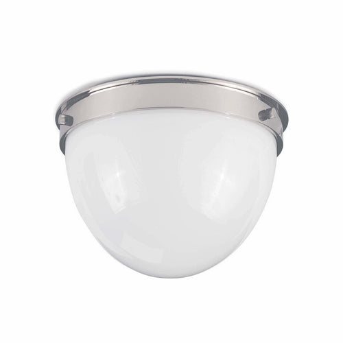 Coastal Living Bay Harbor Flush Mount, Polished Nickel-Chandeliers-Coastal Living-Heaven's Gate Home