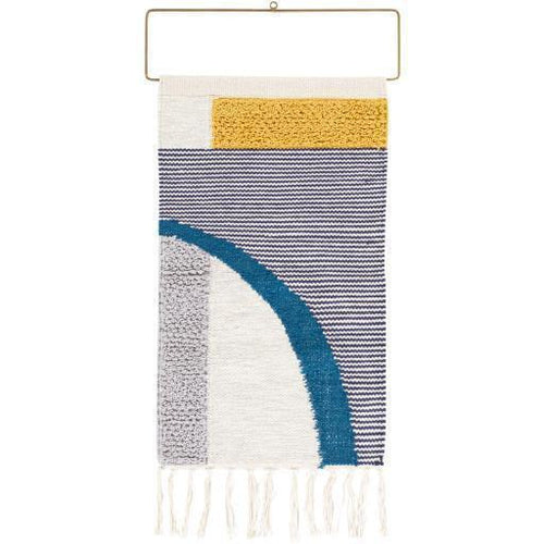 "Surya Matisse MTI-1000 Woven Wall Hanging-Wall Hangings-Surya-26"" x 16""-Gray-Heaven's Gate Home"