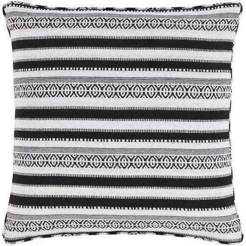 "Surya Maya MYP-001 Cotton Global Pillow-Pillows-Surya-Black-18"" x 18"" Pillow-Heaven's Gate Home"