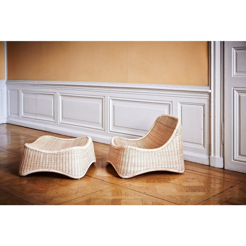 Sika-Design Icons Chill Chair w/ Stool, Indoor-Lounge Chairs-Sika Design-Natural-Heaven's Gate Home