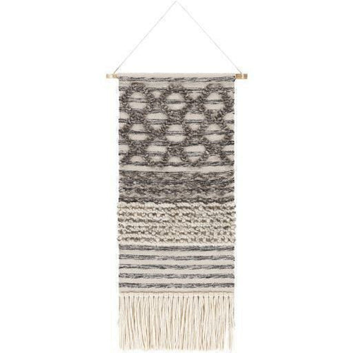 "Surya Nordia NOR-1000 Hand-Woven Wall Hanging-Wall Hangings-Surya-48"" x 22""-Beige-Heaven's Gate Home"