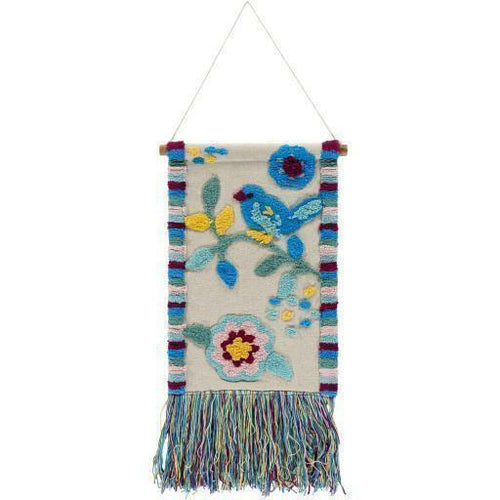 "Surya Nest NST-1000 Woven Wall Hanging-Wall Hangings-Surya-26"" x 16""-Blue-Heaven's Gate Home"