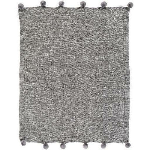 "Surya Odella ODL-1000 Acrylic Hand Knitted Throw-Throws-Surya-Charcoal-50"" x 60"" Throw-Heaven's Gate Home"
