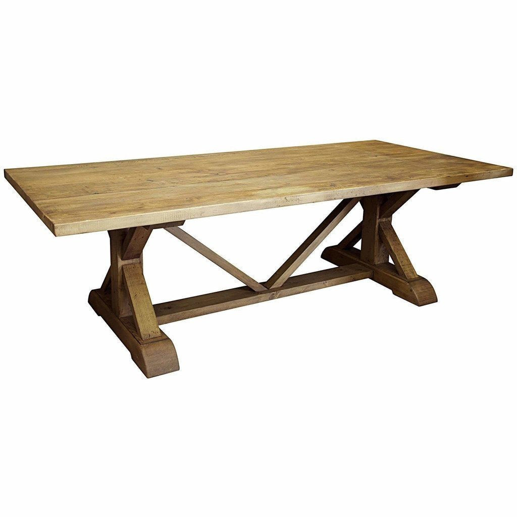 "CFC X Reclaimed Lumber Dining Table, Medium Brown, 120"" L *Quick Ship*-Dining Tables-CFC-Heaven"