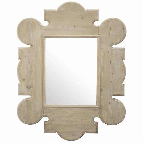 CFC Reclaimed Lumber Gothic Wall Mirror, Gray Wash-Mirrors-CFC-Heaven's Gate Home, LLC