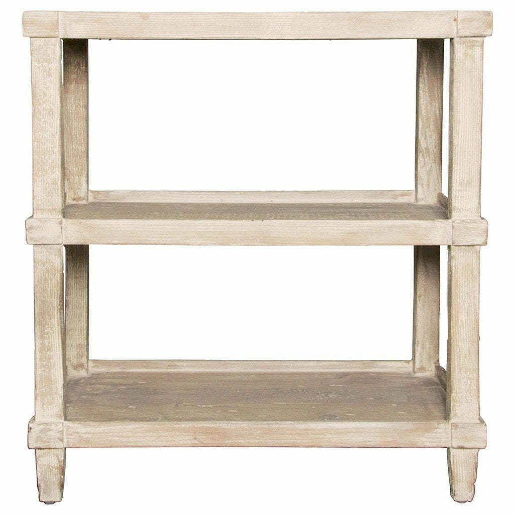 CFC Carlsbad Reclaimed Lumber Side Table, Gray Wash *Quick Ship*-Side Tables-CFC-Heaven