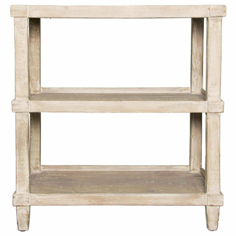 CFC Carlsbad Reclaimed Lumber Side Table, Gray Wash *Quick Ship*-Side Tables-CFC-Heaven's Gate Home