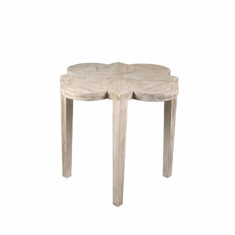 CFC Quatre Feuille Reclaimed Lumber Side Table, Gray Wash *Quick Ship*-Side Tables-CFC-Heaven's Gate Home