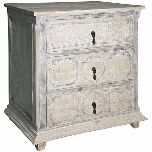 CFC Livingston Reclaimed Lumber Chest, Small, Gray Wash w/Stencil Marks *Quick Ship*-Chests-CFC-Heaven's Gate Home
