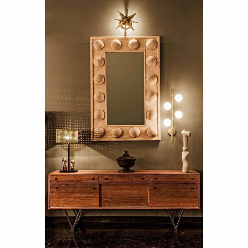 CFC Reclaimed Lumber Boulder Mirror, Grey Wash Wax-Mirrors-CFC-Heaven's Gate Home, LLC