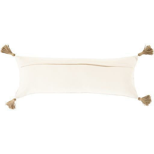 "Surya Parisa PAI-002 Cotton Global Pillow-Pillows-Surya-Cream-12"" x 30"" Pillow-Heaven's Gate Home"