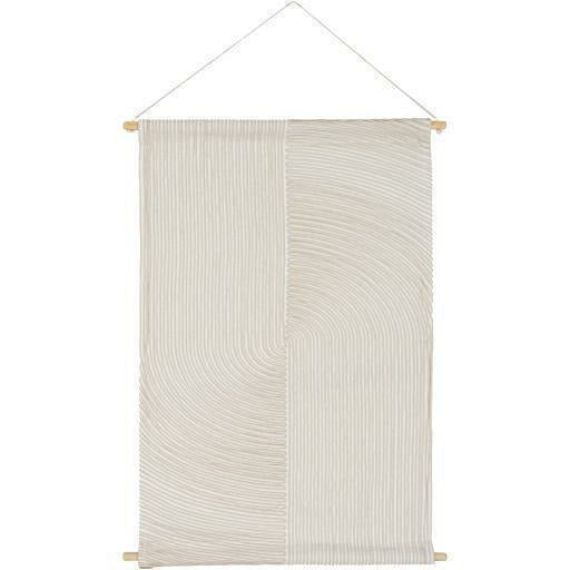 "Surya Pax PAX-1000 Woven Wall Hanging-Wall Hangings-Surya-24"" x 36""-Ivory-Heaven"