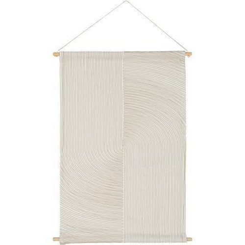 "Surya Pax PAX-1000 Woven Wall Hanging-Wall Hangings-Surya-24"" x 36""-Ivory-Heaven's Gate Home"