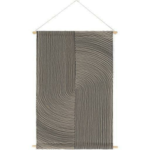 "Surya Pax PAX-1002 Woven Wall Hanging-Wall Hangings-Surya-24"" x 36""-Black-Heaven's Gate Home"
