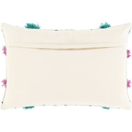 "Surya Phoebe PHB-001 Cotton Global Pillow-Pillows-Surya-Beige-16"" x 24"" Pillow-Heaven's Gate Home"