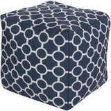 Surya Rain POUF 268-271 Polyester Pouf, Indoor/Outdoor-Poufs-Surya-18