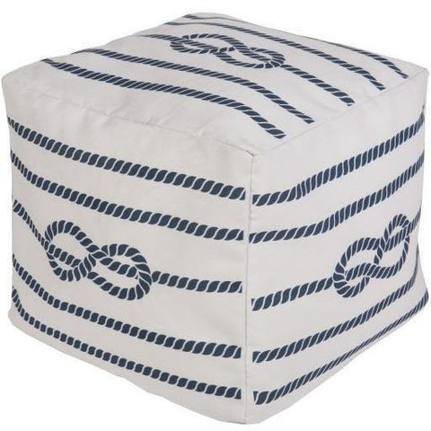Surya Rain POUF 272-273 Polyester Pouf, Indoor/Outdoor-Poufs-Surya-18