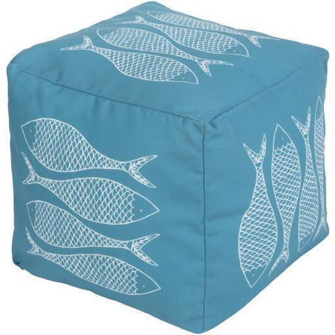 Surya Rain POUF 275-280 Polyester Pouf, Indoor/Outdoor-Poufs-Surya-18
