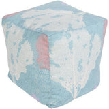 Surya Rain POUF-289 Polyester Woven Pouf, Indoor/Outdoor-Poufs-Surya-18