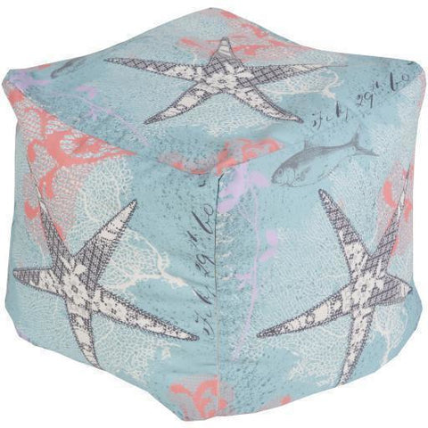 Surya Rain POUF-290 Polyester Woven Pouf, Indoor/Outdoor-Poufs-Surya-18