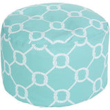 Surya Rain POUF 297-302 Polyester Woven Pouf, Indoor/Outdoor-Poufs-Surya-20
