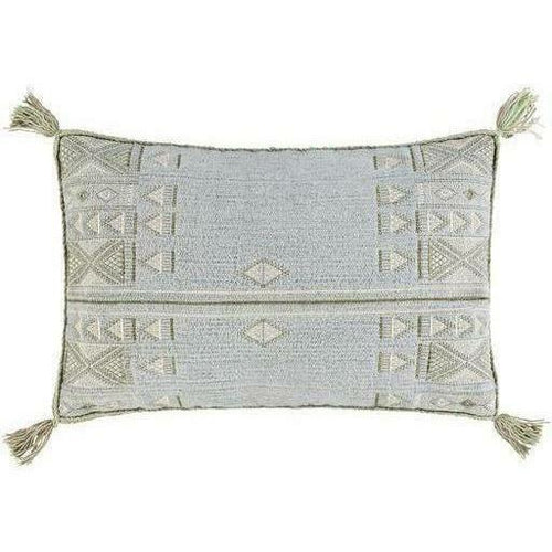 "Surya Sabra RAB-001 Cotton Global Pillow-Pillows-Surya-green-14"" x 22"" Pillow-Heaven's Gate Home"