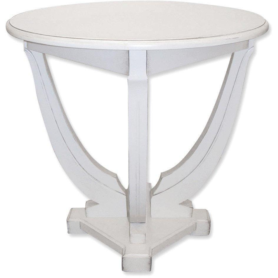 Trade Winds Furniture RJ615 Milan Round Table, White