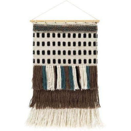 "Surya Saber SBE-1001 Hand-Woven Wall Hanging-Wall Hangings-Surya-32"" x 20""-Beige-Heaven's Gate Home"