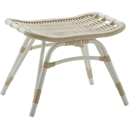 Sika-Design Exterior Monet Footstool, Outdoor-Stools-Sika Design-White-Heaven's Gate Home