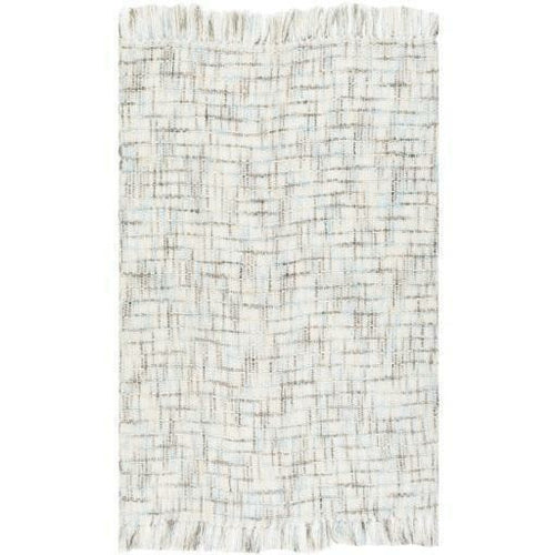 "Surya Saugatuck SGK-1000 Hand Woven Acrylic Throw-Throws-Surya-Ivory-50"" x 60"" Throw-Heaven's Gate Home"