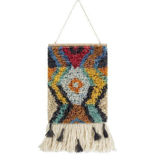 "Surya Santiago SGO-1002 Hand-Knotted Wall Hanging-Wall Hangings-Surya-23"" x 17""-Orange-Heaven's Gate Home"