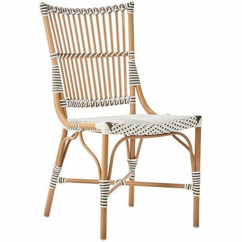 Sika Design Alu Affaire Monique Dining Side Chair, Outdoor-Dining Chairs-Sika Design-White / Cappuccino Dots-Heaven's Gate Home