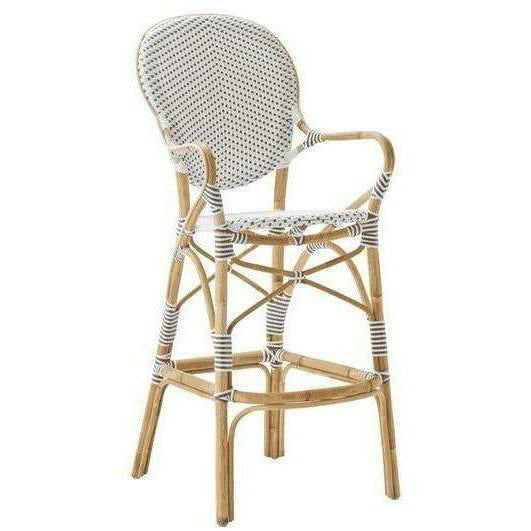 Sika-Design Affaire Isabell Rattan Bar Stool, Indoor/Covered Outdoor-Bar Stools-Sika Design-Heaven