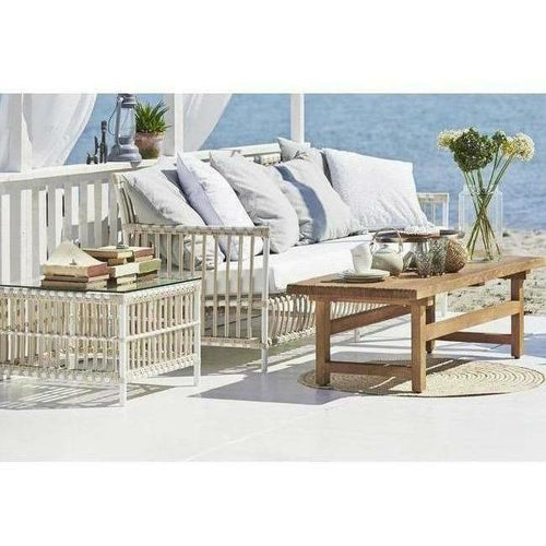 Sika-Design Exterior Caroline 3-Seater Sofa w/ Cushion, Outdoor-Sofas-Sika Design-Heaven's Gate Home