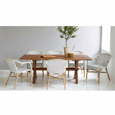 Sika-Design Colonial Teak Table, Long - Heaven's Gate Home & Garden
