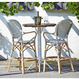 Sika-Design Affaire Isabell Rattan Bar Stool, Indoor/Covered Outdoor-Bar Stools-Sika Design-Heaven's Gate Home
