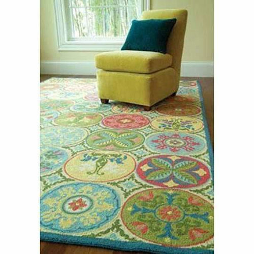 Company C Stepping Stones 100% Wool Hand-Hooked Rug-Rugs-Company C-Heaven's Gate Home