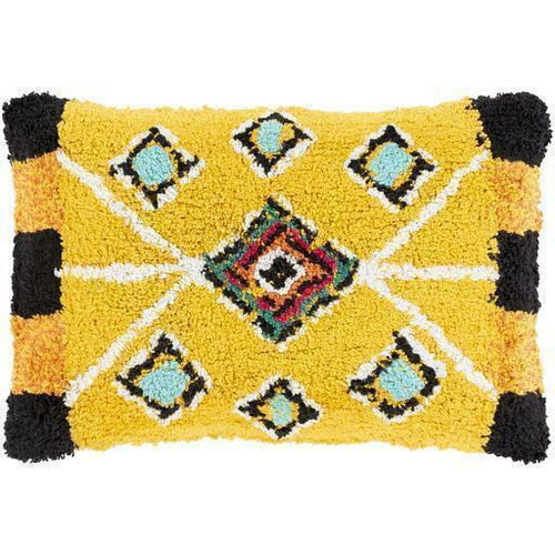 "Surya Settat STT-003 Cotton Global Pillow-Pillows-Surya-Yellow-13"" x 20"" Pillow-Heaven's Gate Home"