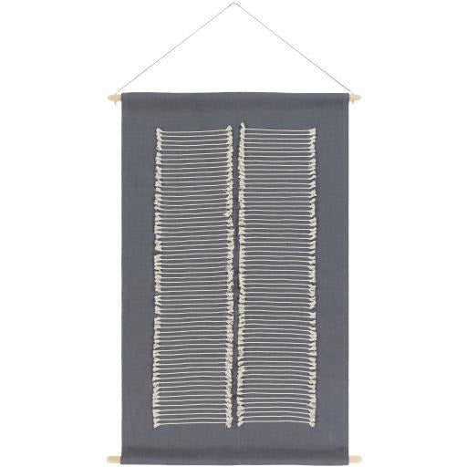"Surya Savion SVI-1003 Woven Wall Hanging-Wall Hangings-Surya-24"" x 36""-Charcoal-Heaven's Gate Home"