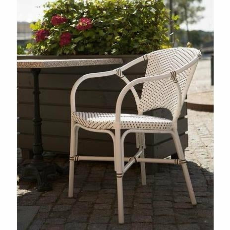 Sika-Design Alu Affaire Valerie Dining Chair, Outdoor-Dining Chairs-Sika Design-White-Heaven's Gate Home